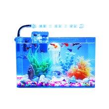 Аквариум для рыб прозрачный горячий изогнутый квадратный стеклянный экологический резервуар для золотой рыбки черепаховый резервуар для гостиной маленький мини настольный аквариум