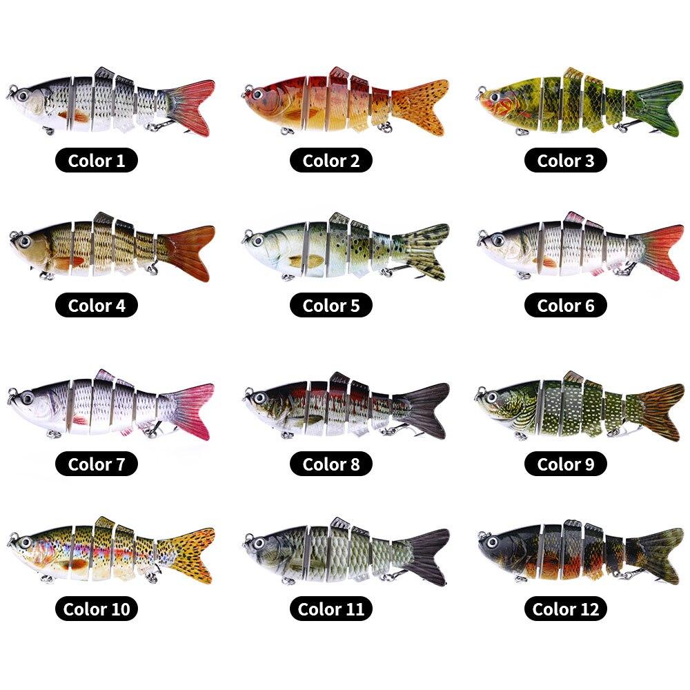 Fishing Lure 10cm 20g 3D Eyes 6-Segment Lifelike Fishing Hard Lure Crankbait With 2 Hook Fishing Baits Pesca Cebo For Bass Pike