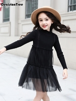 2019 new baby girl clothes dresse warm knit sweater solid ruffle dress for teens childrens casual elegant evening dress