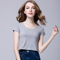 2018 New Solid Color Black White Gray Tshirts Summer Casual Cotton Short Sleeve Tees Tops Brand