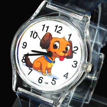 Śliczny piesek wzór szczeniaka dzieci dzieci moda prezent dla dziecka Sport analogowy zegarek kwarcowy tanie i dobre opinie GERRYDA Nie wodoodporne QUARTZ RUBBER Klamra CN (pochodzenie) Z tworzywa sztucznego 21cm Nie pakiet 33mm WW138 ROUND 16mm