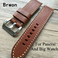20MM 22MM 24MM 26MM High Quality Soft  Oil Wax Leather Strap,  Vintage Leather Watchbands,For PAM  And Big Pilot Watch