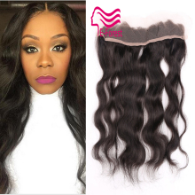 8A Brazilian Lace Frontal Closure 100% Unprocessed Human Hair 13×2 Bleached Knots Virgin Frontal Body Wave Full Lace Frontal