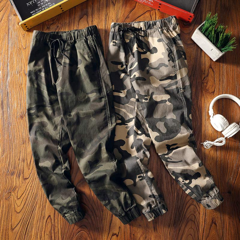 Camo Harem Joggers Cargo Trousers For Women High Waist Camouflage Ankel-length Loose Pants Women 2019 Autumn Spring Clothes Lady