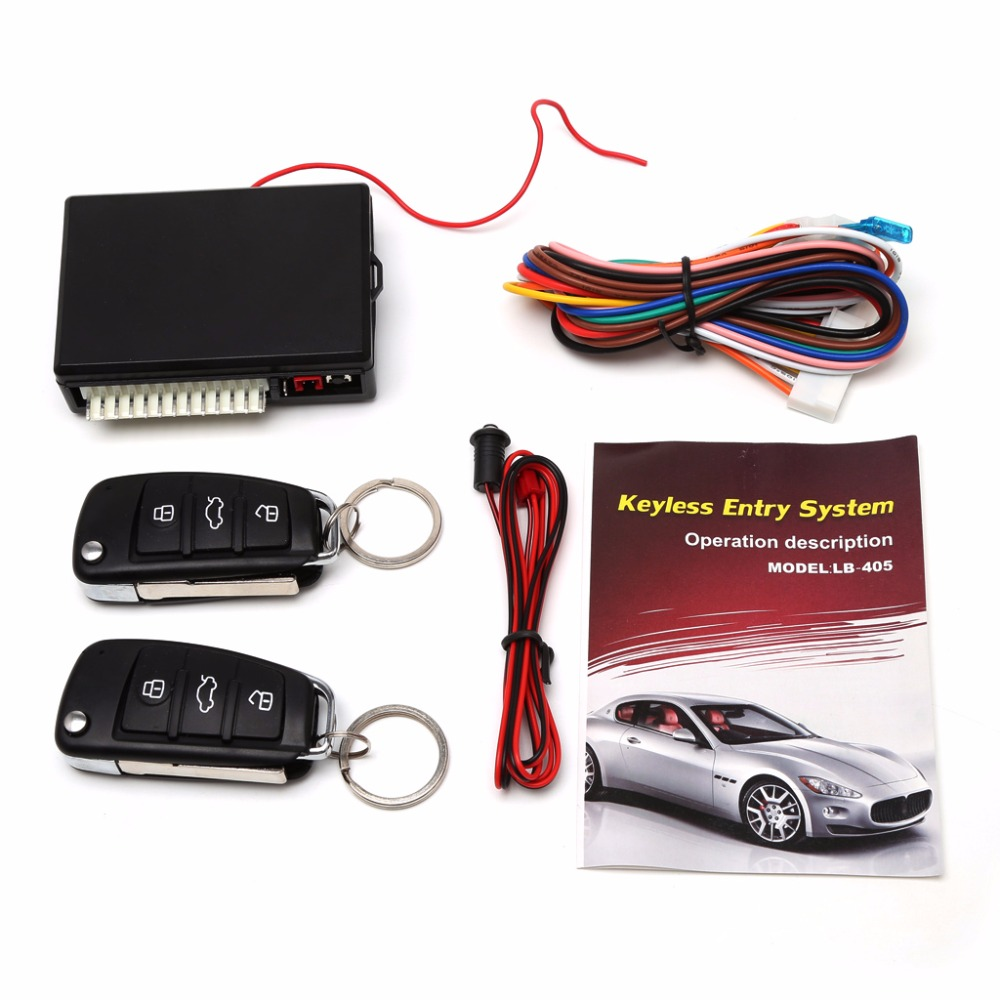 Door-Lock Car-Alarm-Systems Auto-Remote-Central-Kit Universal Keyless with LB-405 title=