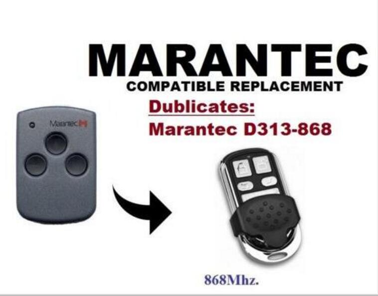 Remote Controls Marantec D313 868mhz Garage Door/gate Remote Control Replacement/duplicator Good Home Electronic Accessories