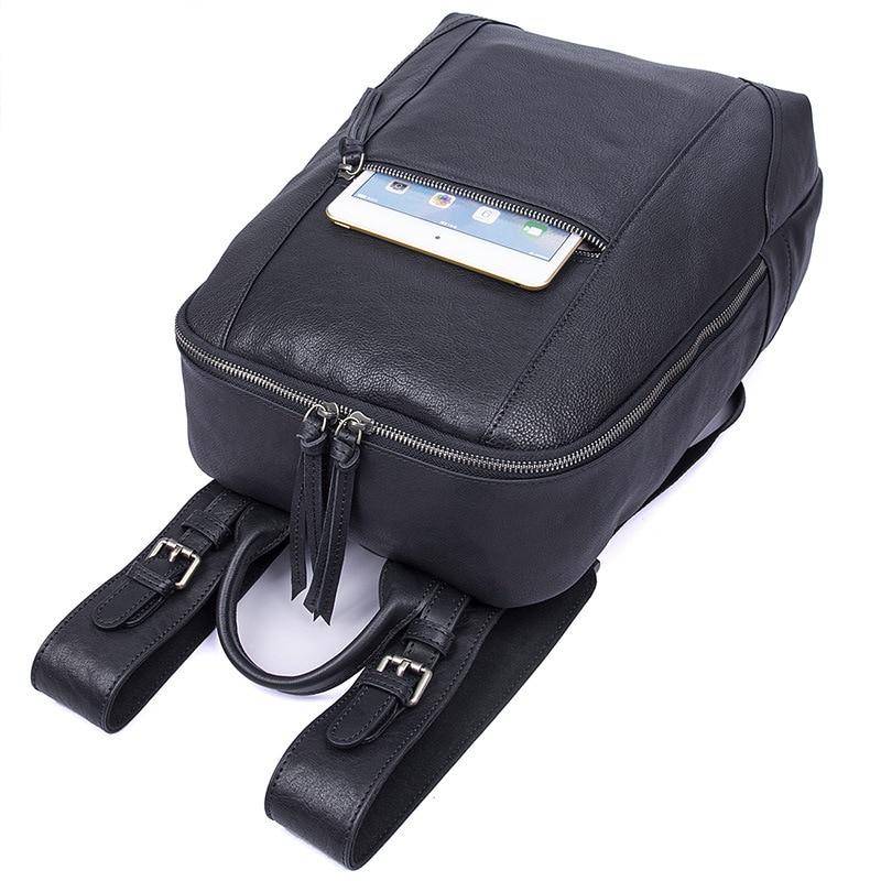 ''ordinateur Dos À En Cuir Qualité Mâle Haute Peau Vache Garantie Real Portable Sacs De Nesitu Voyage 14 Véritable 100 M2012 Noir Hommes PpwAa88qT