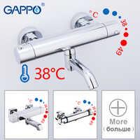 GAPPO robinets de baignoire salle de bain thermostatique robinet de douche robinet de baignoire corps principal bain douche mélangeur ensemble cascade pomme de douche