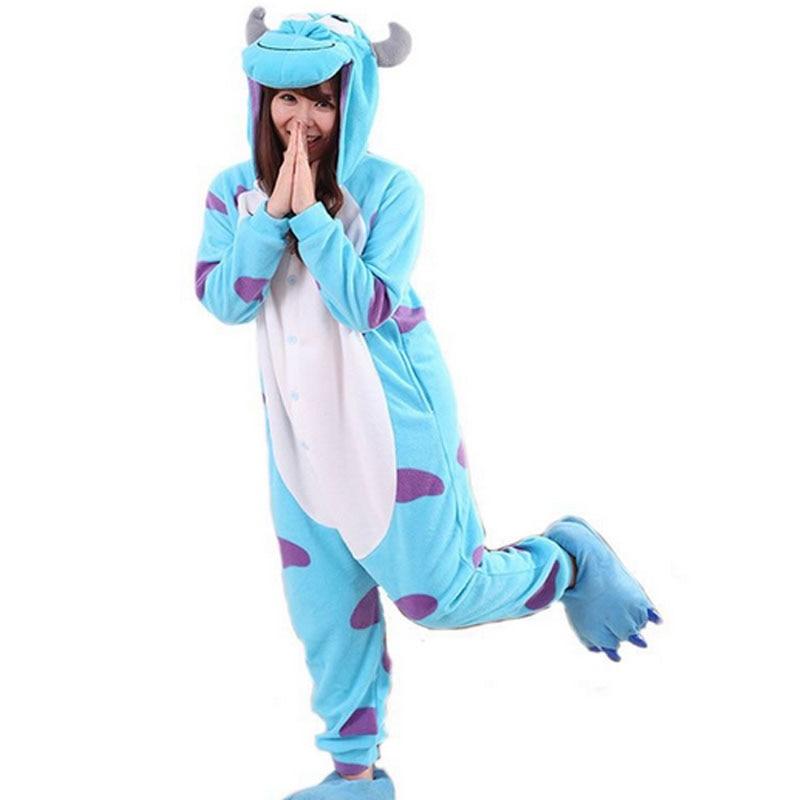 Greywalnut 2018 Winter Casual Flannel   Pajamas     Sets   Cartoon Animal Sleepwear For Women