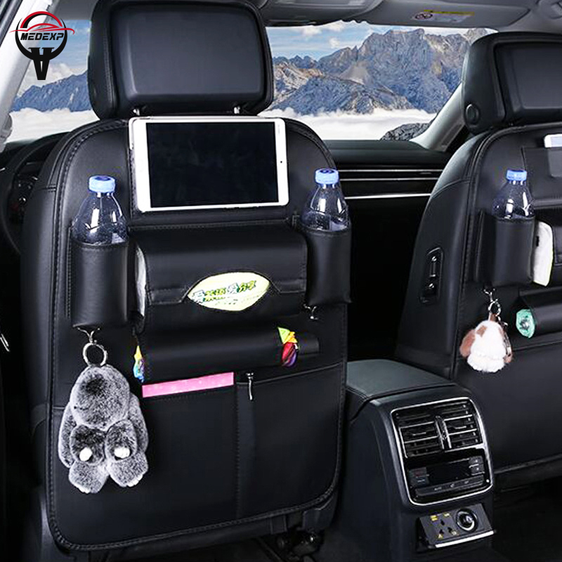 Car Storage Bag >> Us 11 85 50 Off Fashion Car Storage Bag Car Seat Back Bag Car Accessories Interior Organizer Bag Storage Leather Material Best Quality Free Ship In