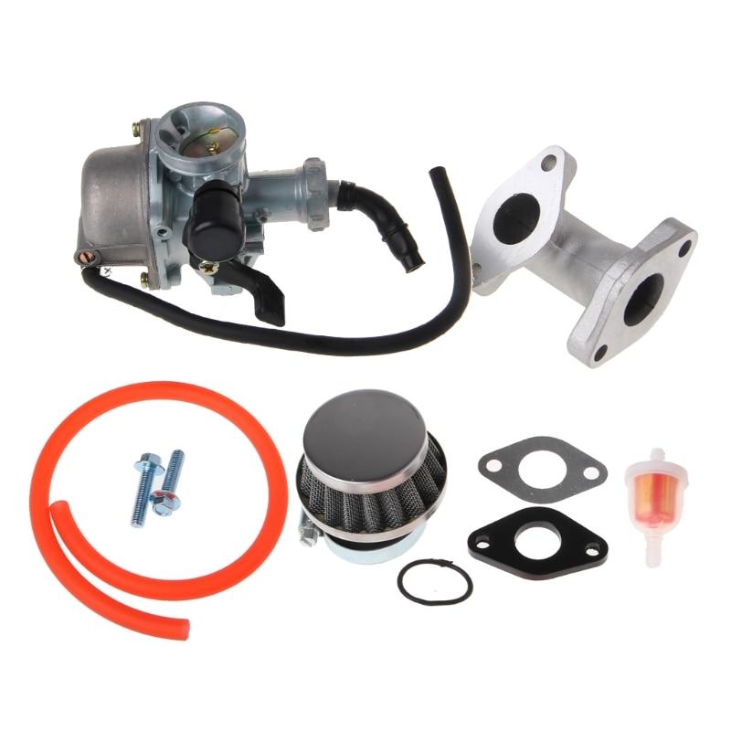 QILEJVS 22mm Carb Carburetor PZ22 Intake Pipe Air Filter For 110cc 125cc ATV Quad Pit Pro Dirt Trail Bike-m15