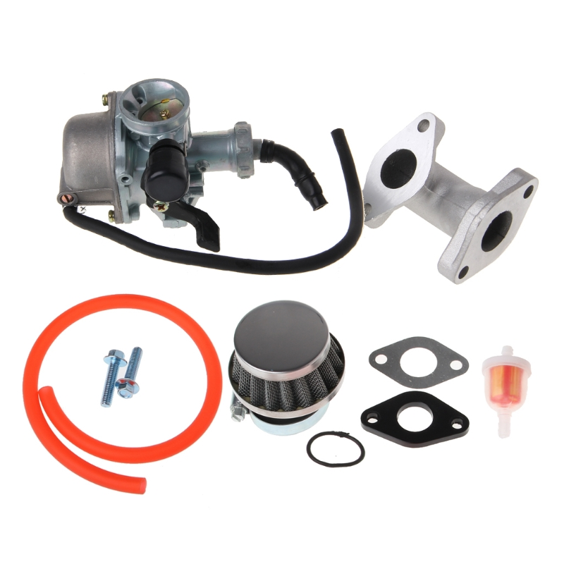 QILEJVS 22mm Carb Carburetor PZ22 Intake Pipe Air Filter For 110cc 125cc ATV Quad Pit Pro Dirt Trail Bike-m15