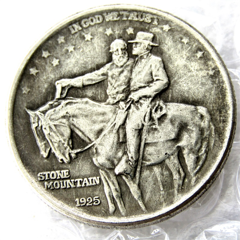 ZDA 1925 Stone Mountain Half Dollar Kopiraj kovance
