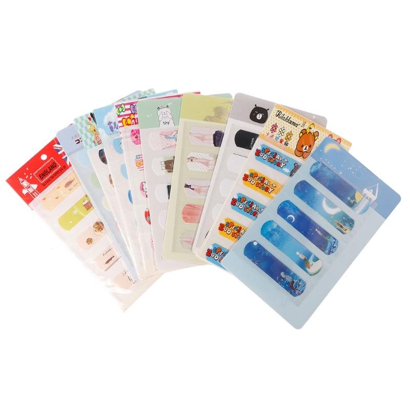 5pcs Breathable PE Bandages Band Aid Waterproof Cute Cartoon Hemostasis Adhesive