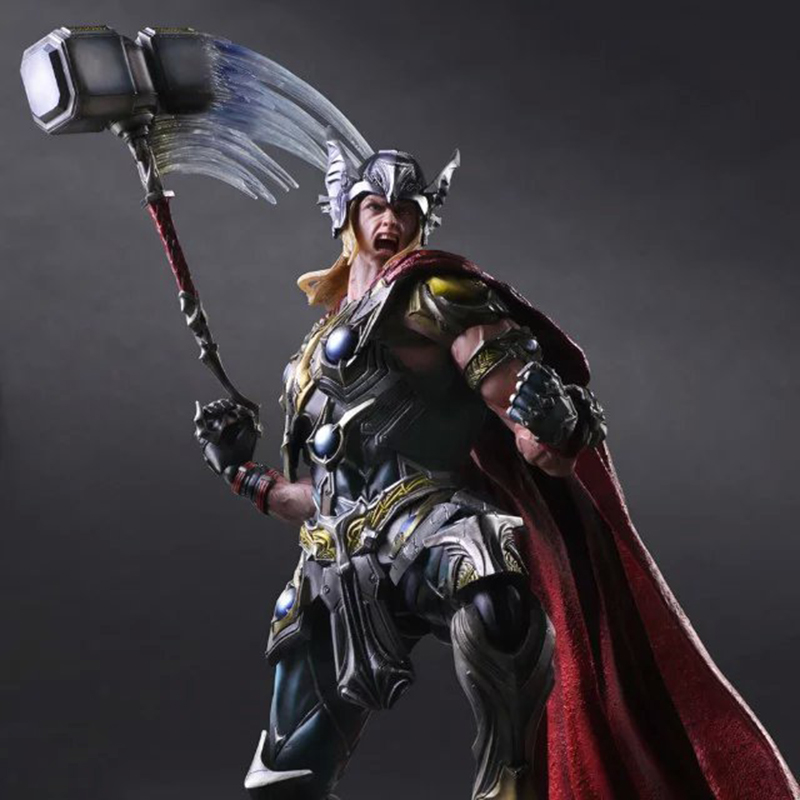 ФОТО Wolves World 2017 Play Arts Kai Superhero The Mighty Thor Action Figure The Avengers Thor Model Figure Toy Kids Gift PA0021