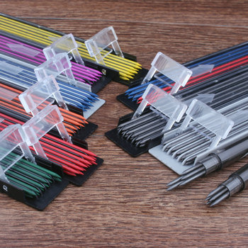 цена на 2mm Thick Pencil lead Colored Automatic Drawing 2 mm Core Mechanical Pencil Lead color Mechanic Pencil Automatic Pencil Lead