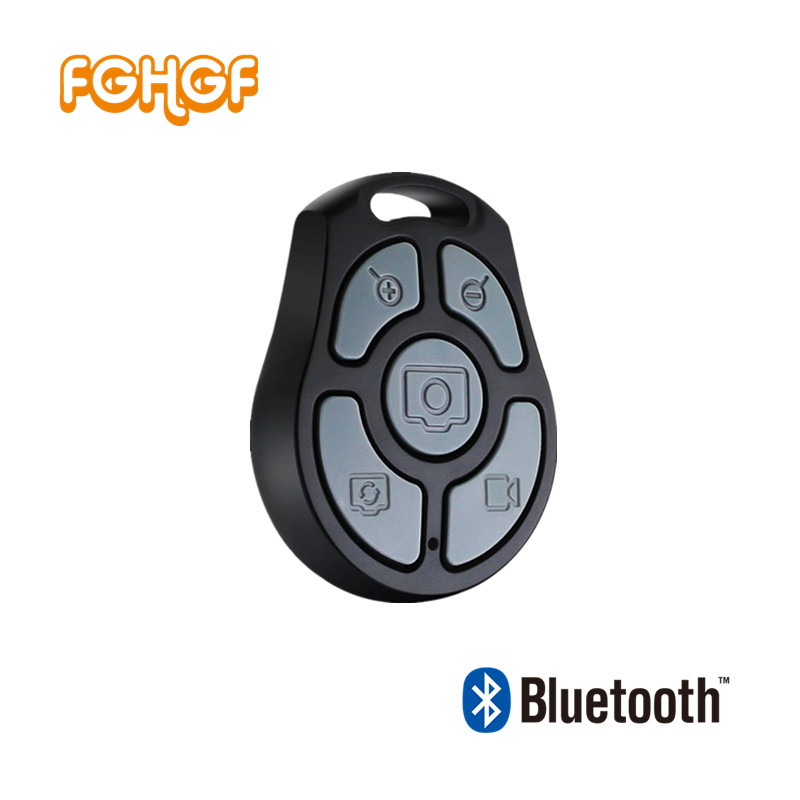 FGHGF 1PC Wireless 5 keys Bluetooth Remote Control Camera Shutter for IOS Android Smartphone x71a coin bluetooth v3 0 remote control self timer camera shutter for ios android phone gold