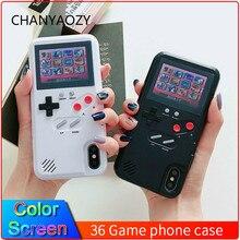 Renkli ekran 36 klasik oyun telefon kılıfı için iPhone 11 Pro X XS Max XR 6S 6 7 8 artı konsol oyun çocuk yumuşak TPU silikon kapak