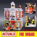 Lepin 15004 City Creator Bomberos Modelo Kits de Construcción de Casa De Muñecas Bloques Assembing Compatible Con 10197