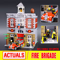 Lepin 15004 City Creator Fire Brigade Model Doll House Building Kits  Assembing Blocks Compatible With 10197