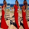 Novos sensuais mulheres verão maxi dress senhora bandagem vermelho longo dress 2017 v-neck vestidos de fiesta envoltório em torno do projeto robe longue femme