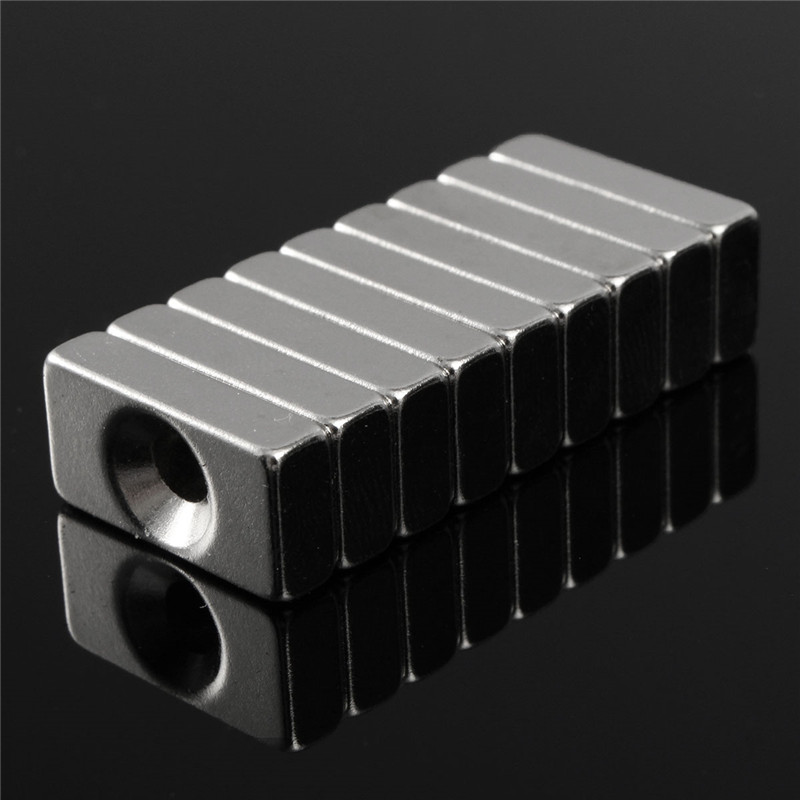 20pcs 20 x 10 x 5mm Super Strong Block Magnets Hole 4mm Rare Earth Neodymium N5 Be careful fragile and Clip hand 2015 20pcs n42 super strong block square rare earth neodymium magnets 10 x 5 x 1mm magnet wholesale price