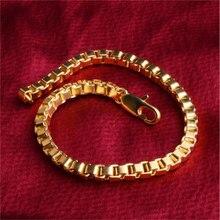WAS3 2019 New Gold New Geometric Square Shape Bracelet Men's / Women's Fashion Popular Jewelry Sale
