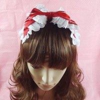Princesa lolita dulce princesa dulce de encaje lolita cos cintas para el pelo de la cinta del pelo accesorio accesorio horquilla del pelo arco de la venda