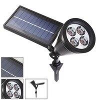 Solar New 4LED Plastic Solar Lights Lawn Lamp Projection Lamp Plug