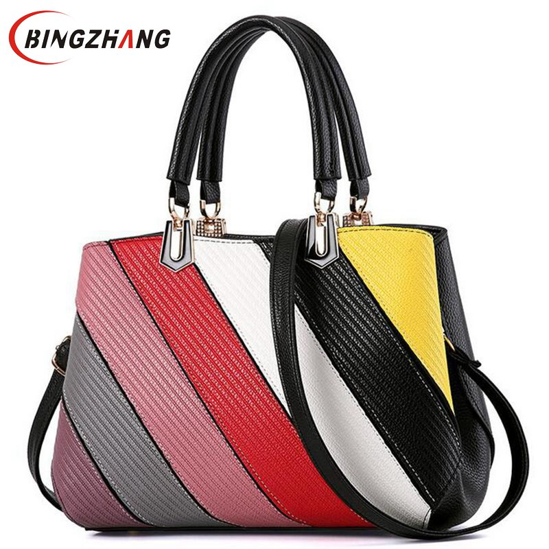 High Quality PU Leather Women Messenger Bag Big Shoulder Bag Large Capacity Totes Famous Brand Handbag Bolsa Feminina L4-2785 ursfur 2017 high quality patent leather women bag ladies cross body messenger shoulder bag handbag famous brands bolsa feminina