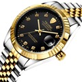 TEVISE Luxury Men Mechanical Watch Classic Date automatic Mechanical Watch Self-Winding Diamond full steel Strap Wrist Watch