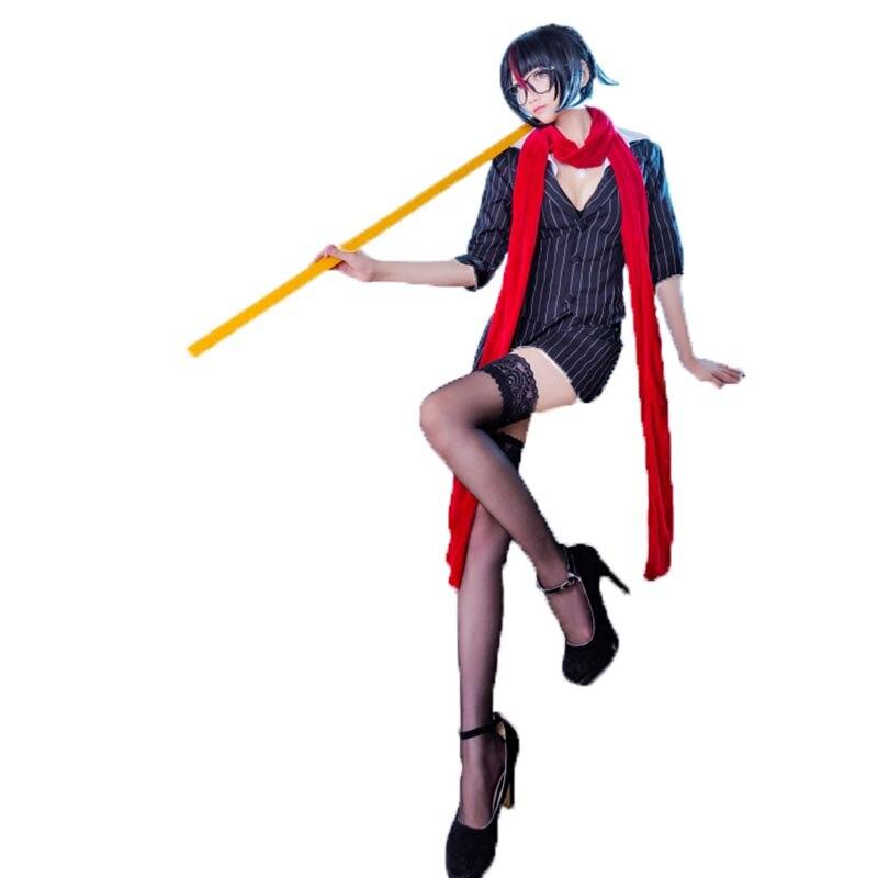LOL Headmistress Fiora Cosplay Costume Sexy Dress Halloween Uniform Outfit top+skirt+Scarf