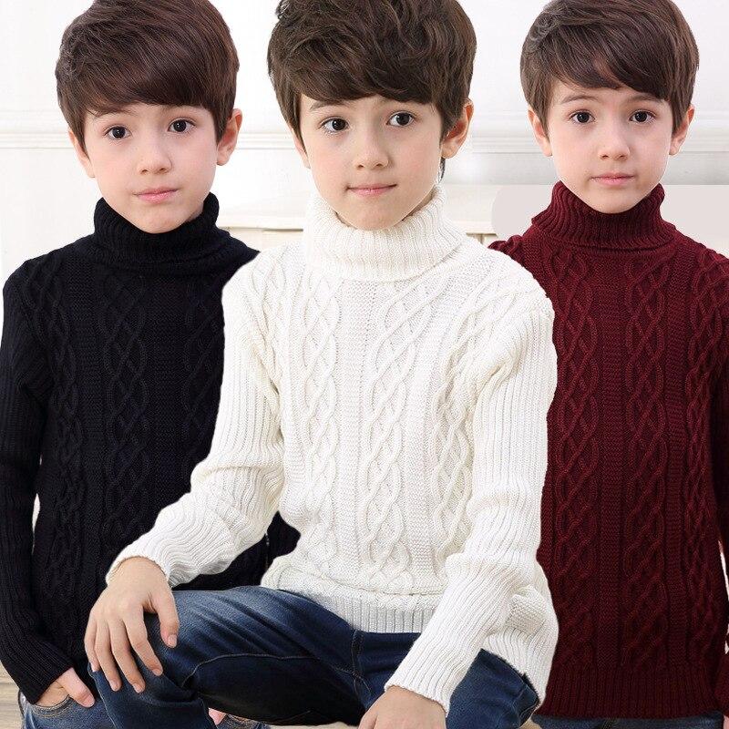 NEW winter boys font b clothing b font teen boys sweater kids fashion turtleneck sweater font