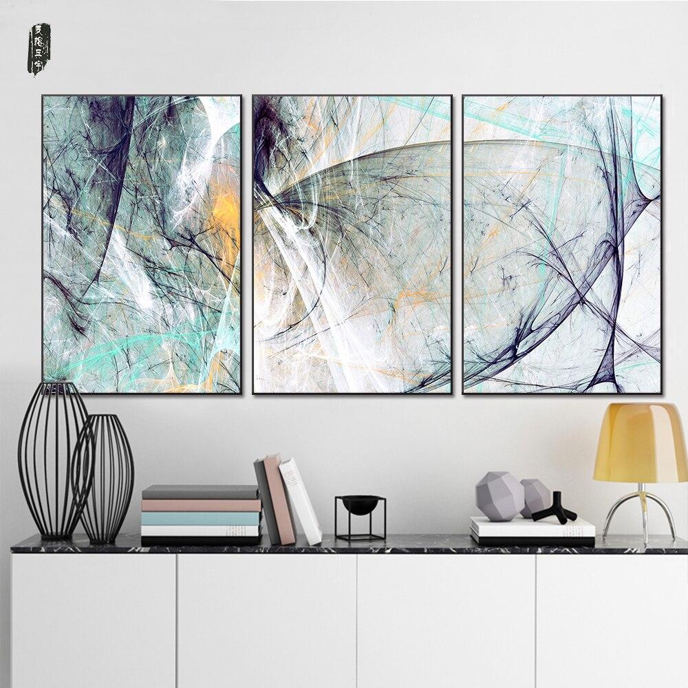 Landschaft Abstrakte Leinwand Gemälde Moderne Wandkunst Poster und ...