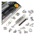 Intelligence toys adult educational toys ring opening solution wire puzzle  16 piece set gift box set