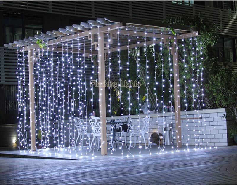 AC220V 6x3M 600LED dom vanjski odmor božićni ukrasni vjenčanje - Rasvjeta za odmor - Foto 5