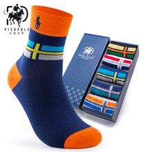 PIER POLO men's business brand socks autumn and winter cotton tube men