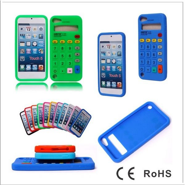 huge selection of 37ca3 91aa1 US $130.0 |Calculator Soft Silicone Back Case Cover for iPod Touch 5 5G 5th  Generation DHL Free Shipping 100pcs/lot-in MP3/MP4 Bags & Cases from ...