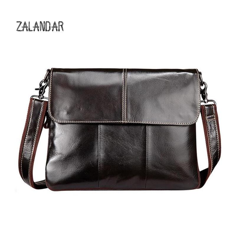 ФОТО ZALANDAR 2017 Men Casual Briefcase Business Shoulder Bag Leather Messenger Bags Computer Laptop Handbag Bag Men's Travel Bags