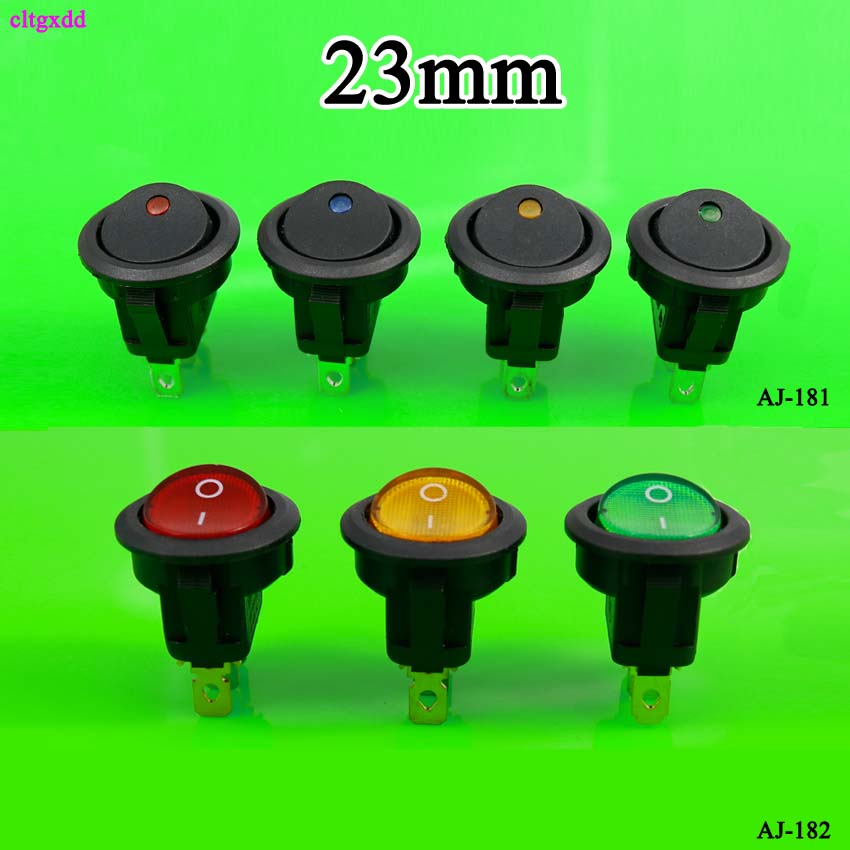 12V 3 Pin Round On//Off SPST Switch LED Round Rocker Toggle Switch for Car Truck Van Dash Boat LED Round Switch