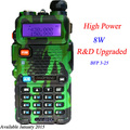 Radio portátil uv-5r baofeng uv-8hx caliente nueva versio de dm-5r baofeng walkie talkie pofung 8 w vhf de banda dual/uhf baofeng uv 5R
