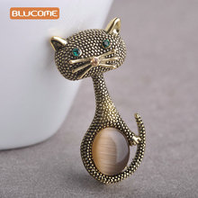 Green Eyes Cats Brooches