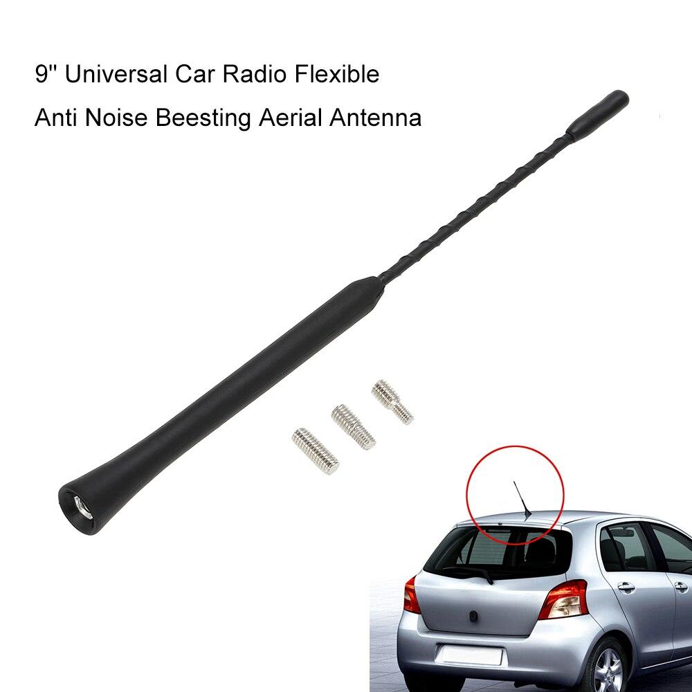 9/'/' Replacement Universal Car Radio Stereo Aerial Sting Mast AM//FM Antenna Black