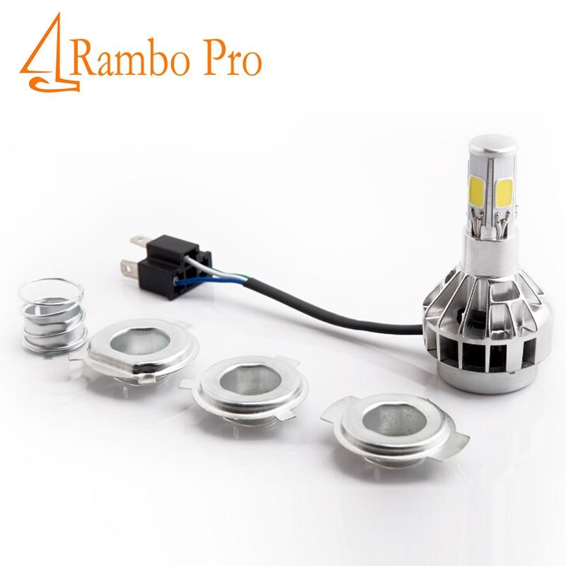 2 Set Car-styling Motorcycle Headlight Led H4 Moto PH7 H6 Bulbs Headlamp 6000K Lamps DC 12V 35W