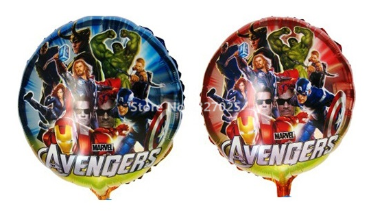 2pcs Lot Wholesale The Balloon Hulk Iron Man Captain Thor Foil Helium Balloons For Birthday