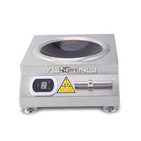 Commercial Induction Cooker 5000W Large Power Electric Cooker Stainless Steel Concave Induction Stove 50A6 2