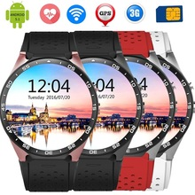 KingWear KW88 3G Smartwatch GPS Smart Watch Android 5 1 MTK6580 Pedometer With 2 0MP Camera