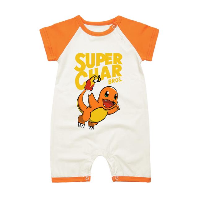 Pyjamas Bébé SUPER PIKA Bros. – Barboteuse Bébé À Manches Courtes