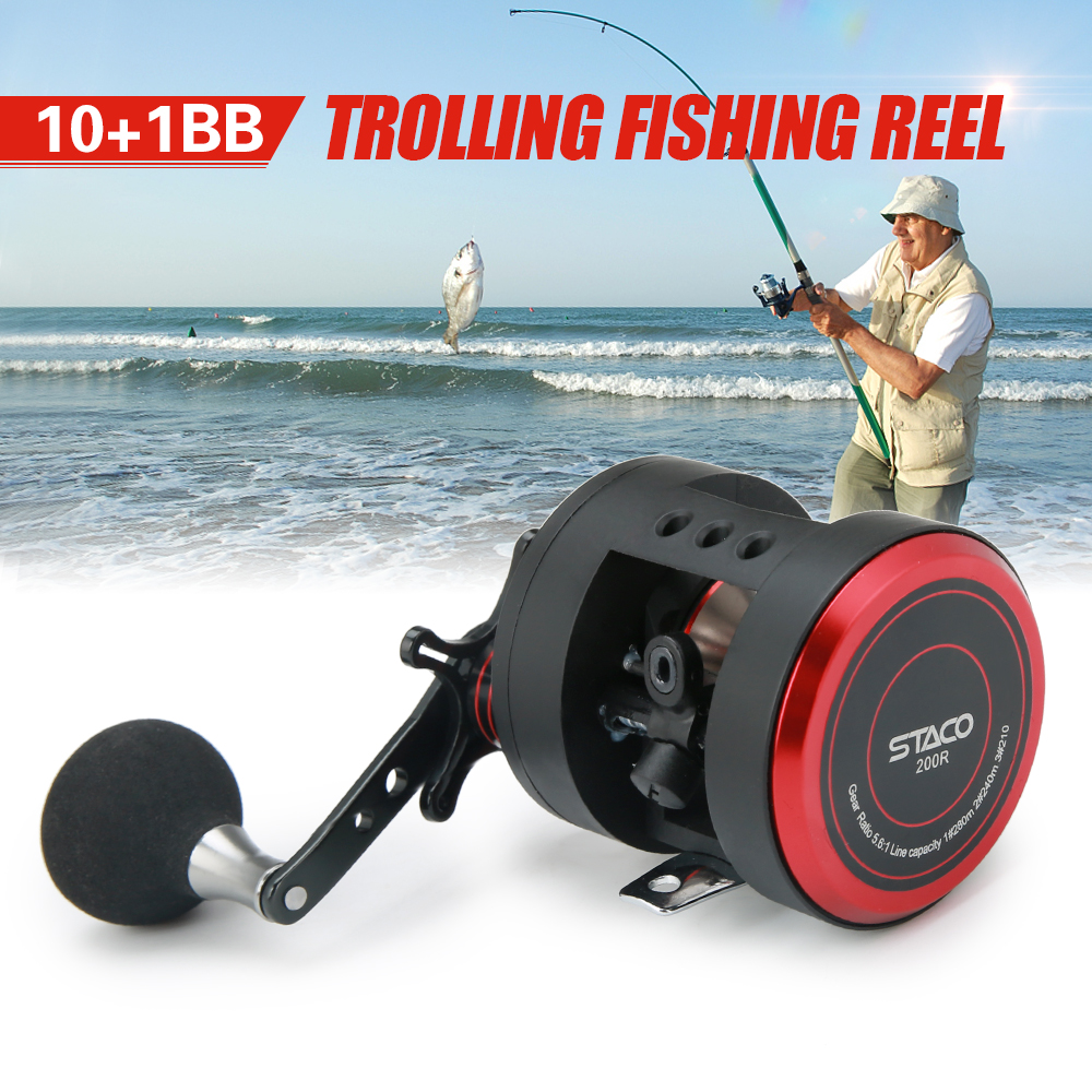 10 1 BB Fishing Reel Left Right 5 6 1 Trolling Reel Drum Fishing Reel Snakehead