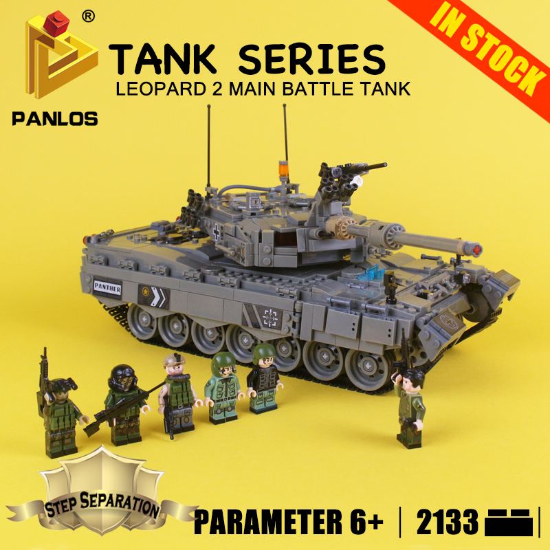 DIY Bricks for kids TANK SERIES Leopard 2 Main Battle Tank Educational Blocks Compatible With lego city Building Toys hobbies